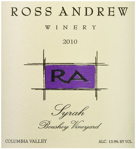 2010 Ross Andrew Winery Syrah Boushey Vineyards