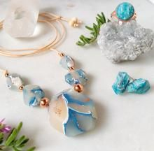 Mummy's Pretties, hand crafted polymer clay faux rock necklace gift set. Made in Tasmania