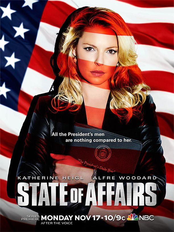 Katherine Heigl's patriotically sexy 'State of Affairs' poster