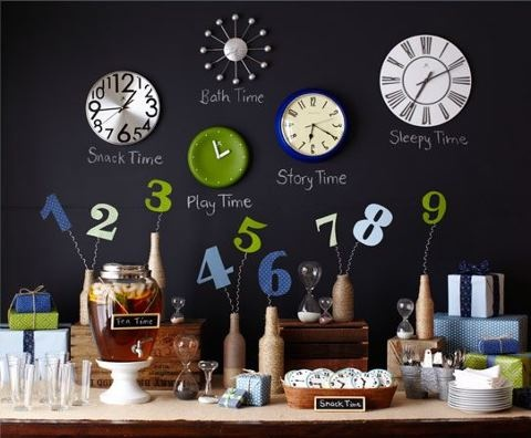 Around The Clock Baby Shower Theme Gifts Snack Time Sleepy Bath Play