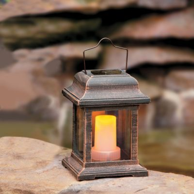 Solar Powered Flickering Lantern