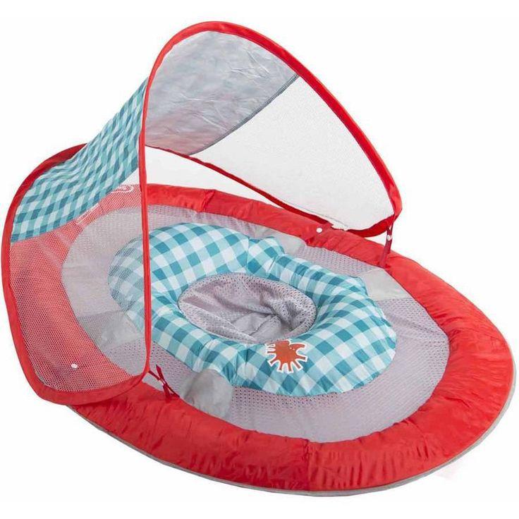 Swimways Baby Spring Float Canopy Red - Developmental Baby Toys
