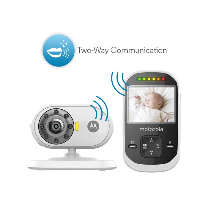 Motorola MBP25-2 Wireless Digital Video Baby Monitor with 2 Cameras | Motorolahome.com