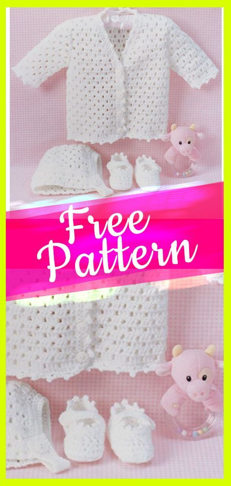 Free Pattern Baby Crochet Set With