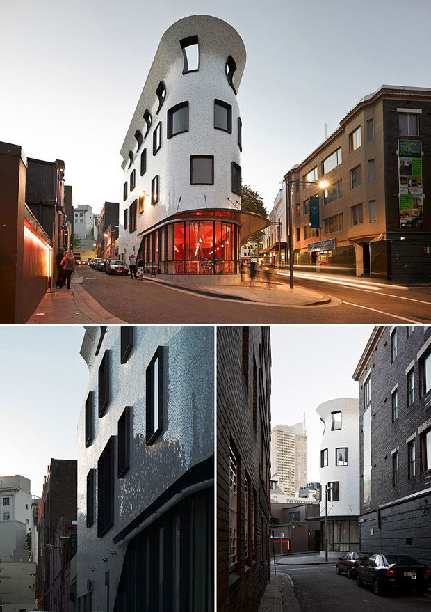 Four storey commercial building in Potts Point, Sydney   by Durbach Block.