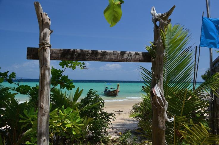 Pláž dostupná lodí
