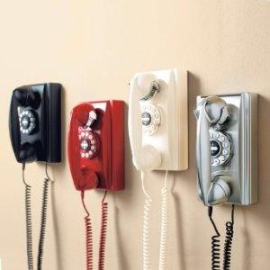 Retro Rotary Wall Phone Modern Home Electronics