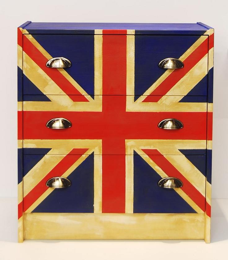 commode drapeau anglais by zodio