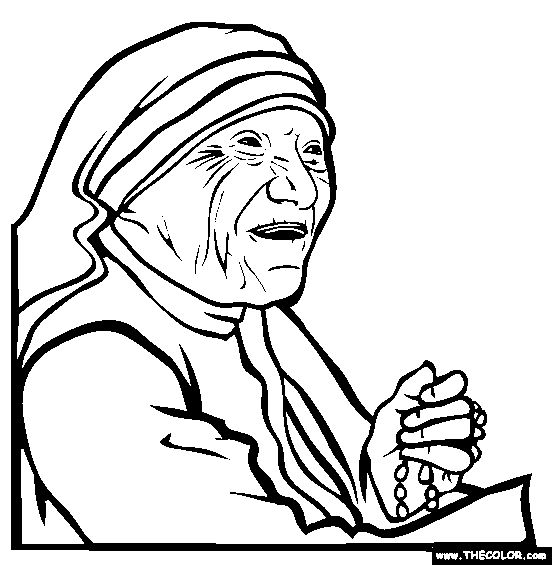 mother theresa coloring page free mother theresa free famous people