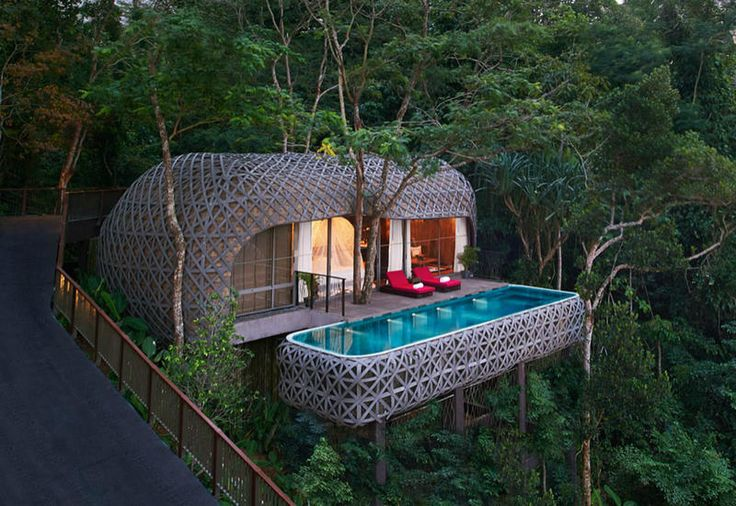 A resort hotel in the jungle in Phuket, Thailand
