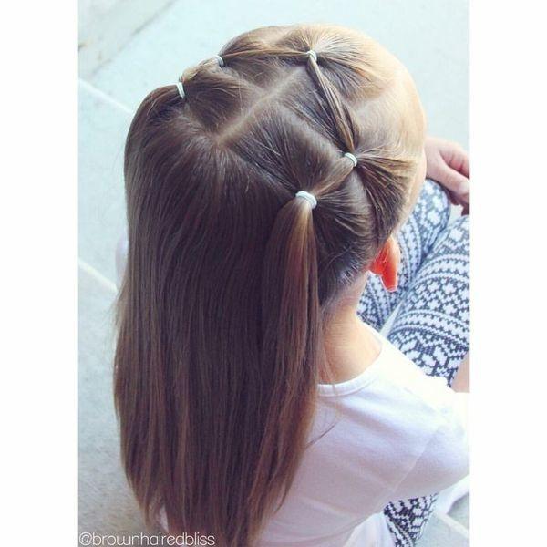 wunderschöne Frisuren für kleine Mädchen anlässlich des Schuljahres …
