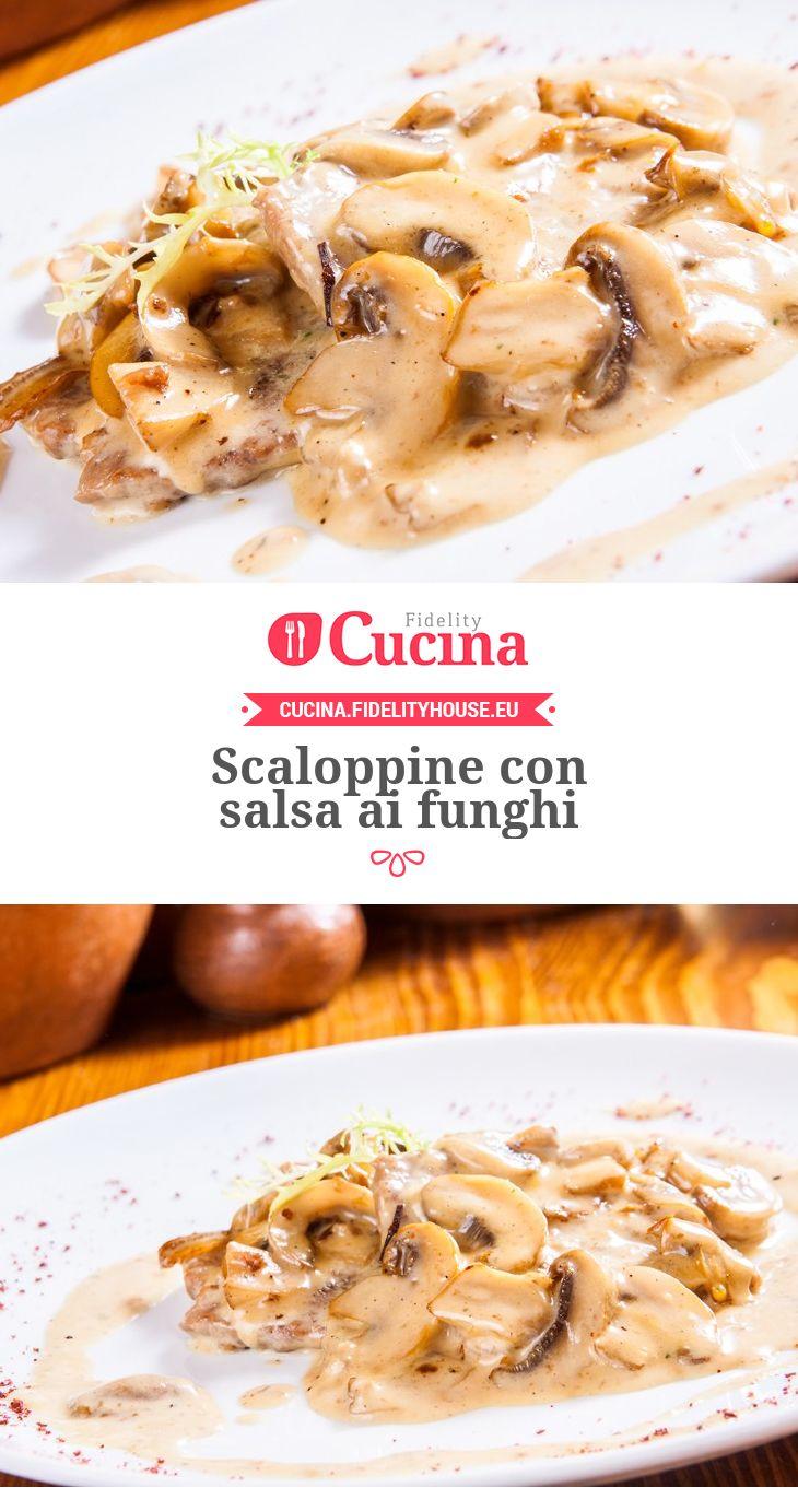 #Scaloppine con salsa ai #funghi