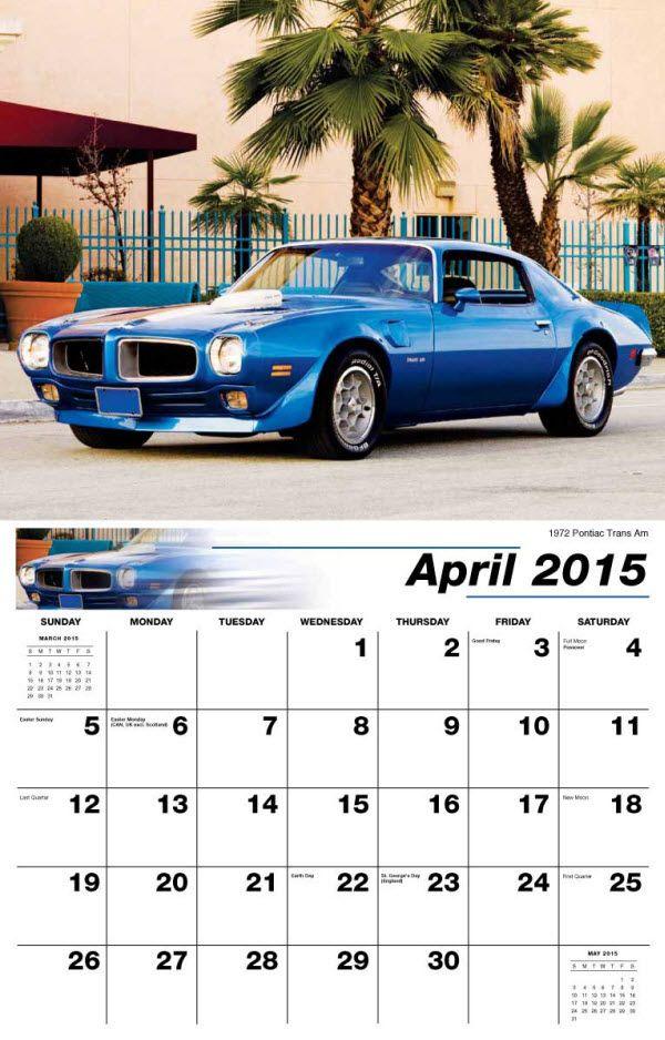 GM Classics | GM Classic Cars | Pontiac firebird, Classic, Calendar date