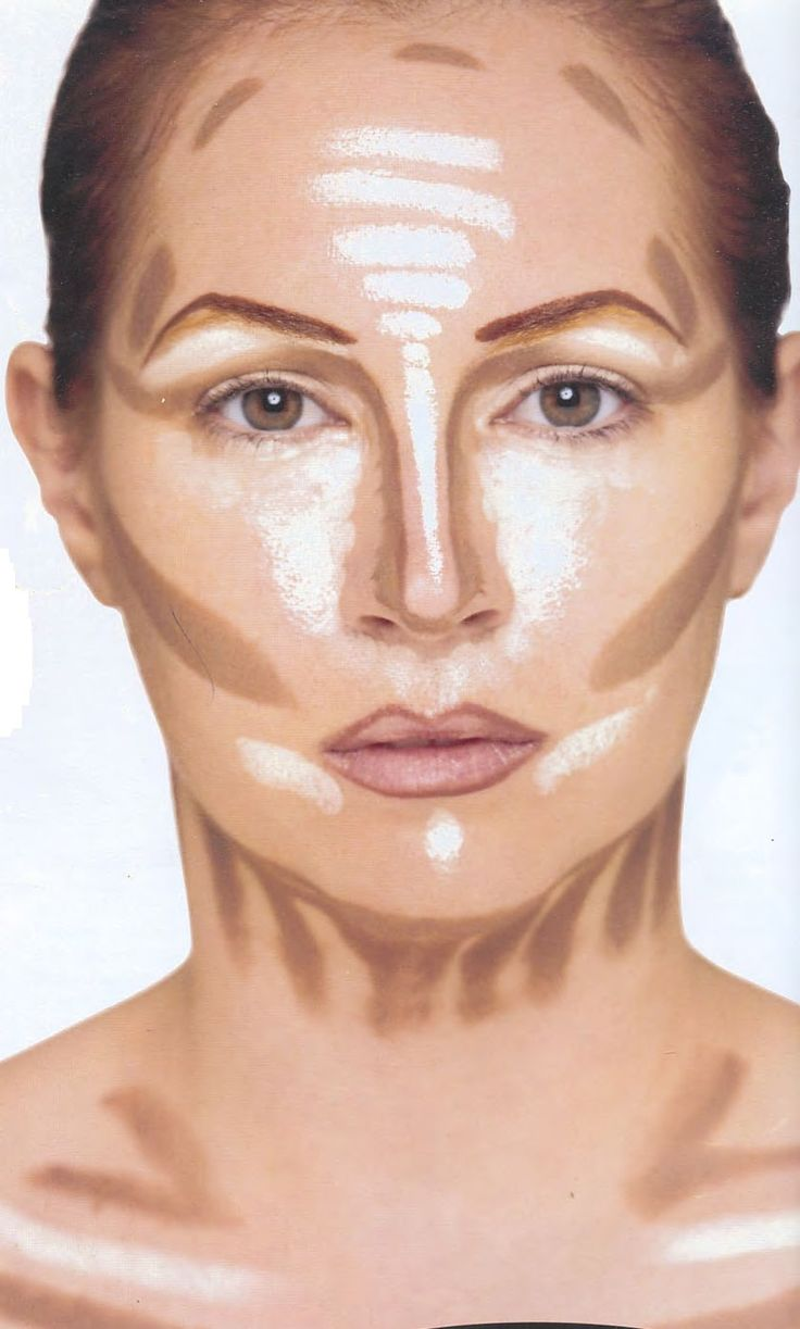 Facial Contouring With Foundation.
