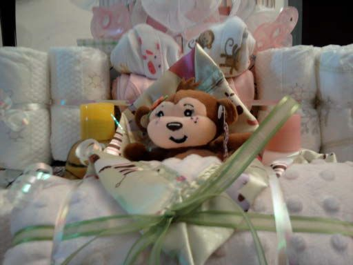 lil monkey diaper cake