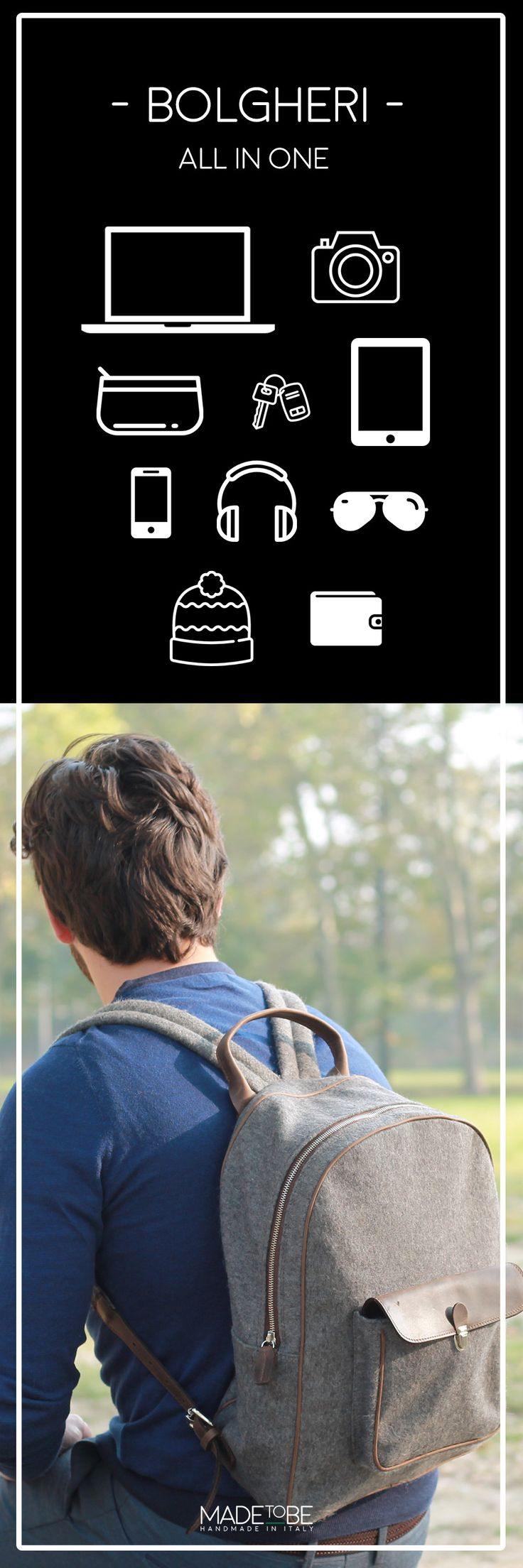 All in one! all your accessories in your Bolgheri Backpack