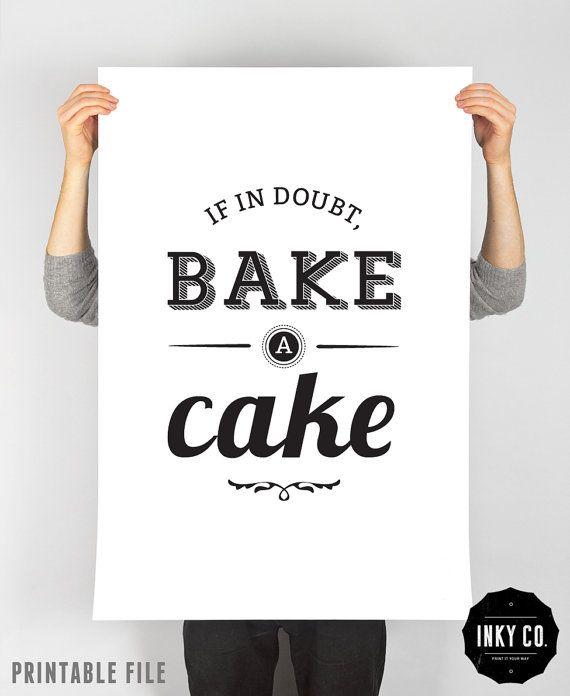 I <3 this! Cake print kitchen decor scandinavian design by InkyCreative