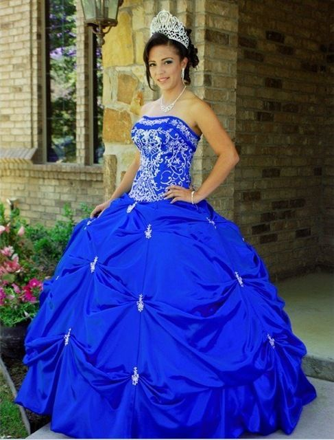 Free Shipping New Arrival Embroidery Color Ball Gown Custom size/color
