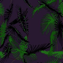 Nocturnal Palm Trees