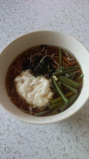 山菜とろろ蕎麦 レシピ・作り方 by momotarou1234|楽天レシピ