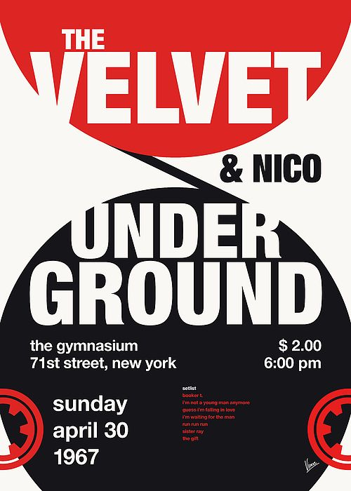 No024 MY VELVET UNDERGROUND and nico TYPO Concert Poster by Chungkong Art