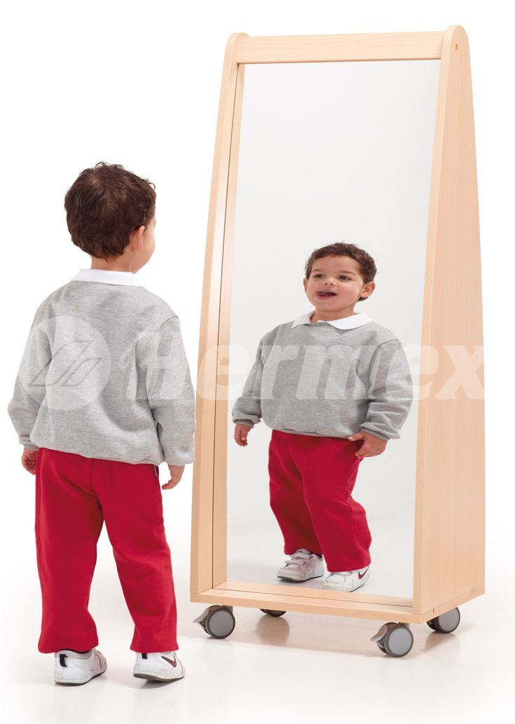Mueble con ruedas y espejo concavo convexo aulas bebes - Espejo irrompible ninos ...