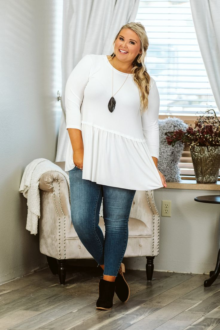 Curvy Closing Time, White, Plus Size Top 3