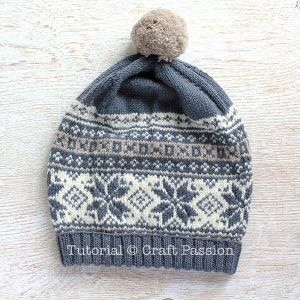 Fair Isle Beanie - Free Knitting Pattern | Craft Passion