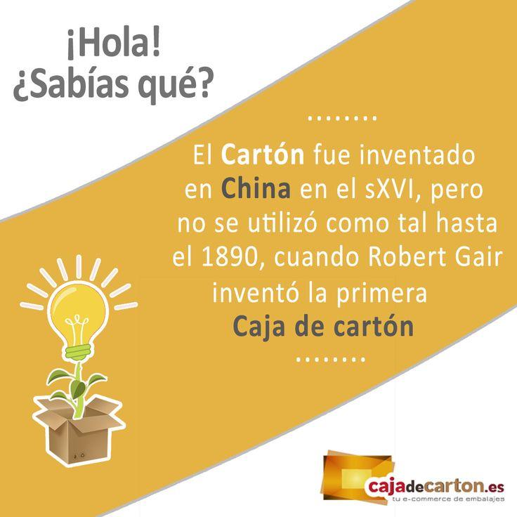 ¿Sabías que el #Cartón fue inventado en China en el s.XVI, pero no se utilizó como tal hasta el 1890, cuando Robert Gair inventó la primera Caja de cartón? #SabiasQue #Curiosidades #DatoCurioso