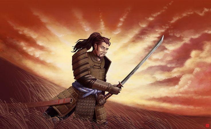 Samurai by flamingpencildotcom.deviantart.com on @DeviantArt