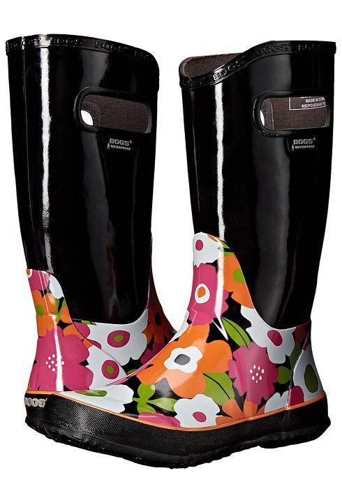 Girls Bogs Violet Multi Flower Lightweight Rain Boot Wellies Wellingtons 71927 -Uk 10 (eu 27) v3IxdWQLI