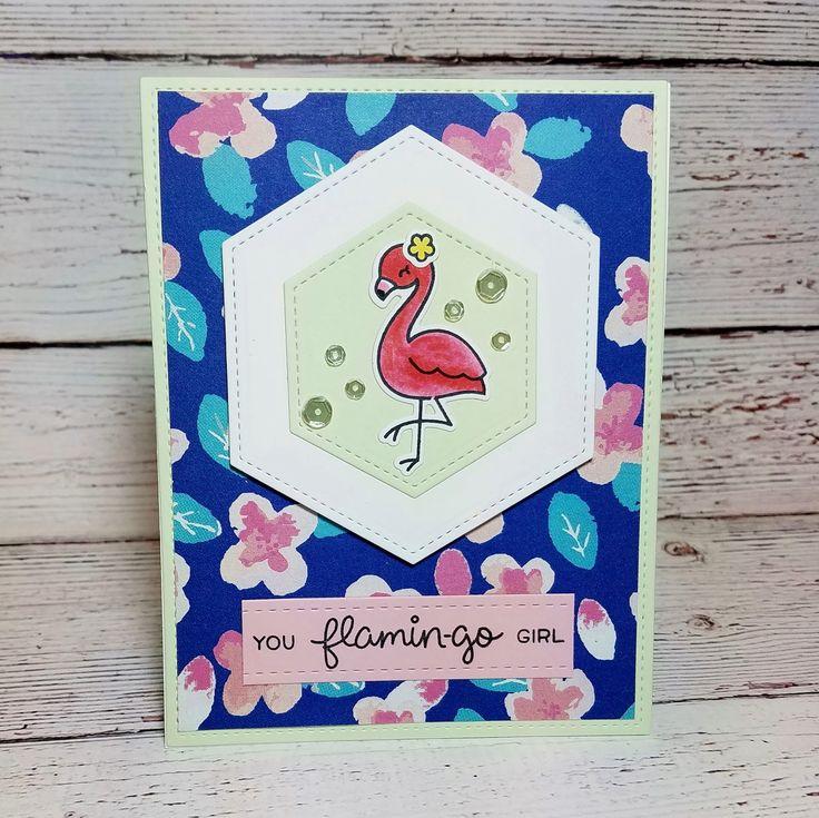Corilyn's Creations: Pretty flamingo #lawnfawn #prettypinkposh #ssswchallenge
