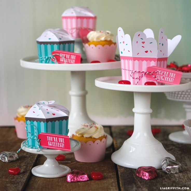 Cupcakes on your mind for Valentine's Day? Us too! We think this cute DIY from Lia Griffith is the perfect handmade touch for the special day. Easily create this craft by downloading the template, printing and cutting it out! Add labels for the final decorative touch. Don't forget to grab your favorite homemade recipe for the cupcakes.