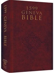 Though the Pilgrims carried a 1611 version of the King James Bible, there was an earlier version: the 1599 Geneva Bible. This version, brought to America on the Mayflower, was the most widely read and influential English Bible of the 16th and 17th centuries.  Comes in Hardcover and Leather.   http://superstore.wnd.com/core/media/media.nl?id=690&c=811217&h=bed693f2d0c9926690be