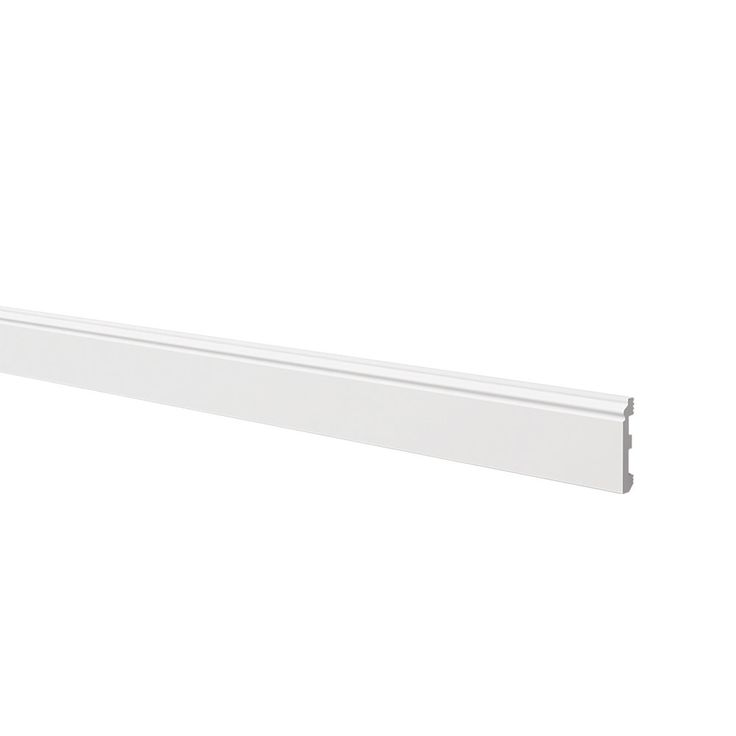 Ogee Skirting Board White 2.44m x 80mm x 12mm 6 Pack | Skirting Board | Screwfix.com
