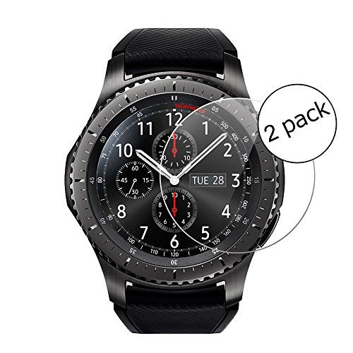 From 2.99 Samsung Gear S3 Frontier Screen Protector Wrcibo 9h Hardness Hd Clear Tempered Glass Screen Protector For Samsung Gear S3 Frontier With Bubble Free Scratch Resistant