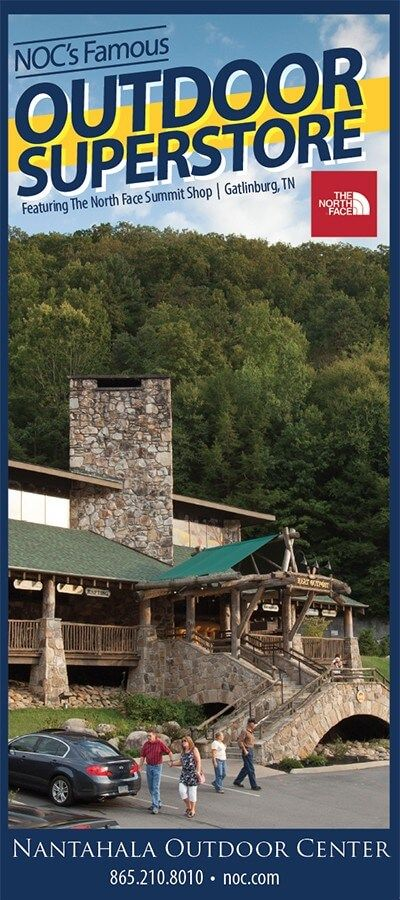 """Nantahala Outdoor Center – Outdoor Superstore in Gatlinburg are the leaders in outdoor adventure in the Great Smoky Mountains!  """"One of the Best Outfitters on Earth,"""" says National Geographic Adventure"""