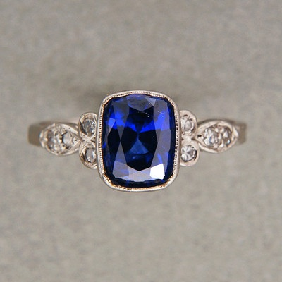 1920s sapphire ring