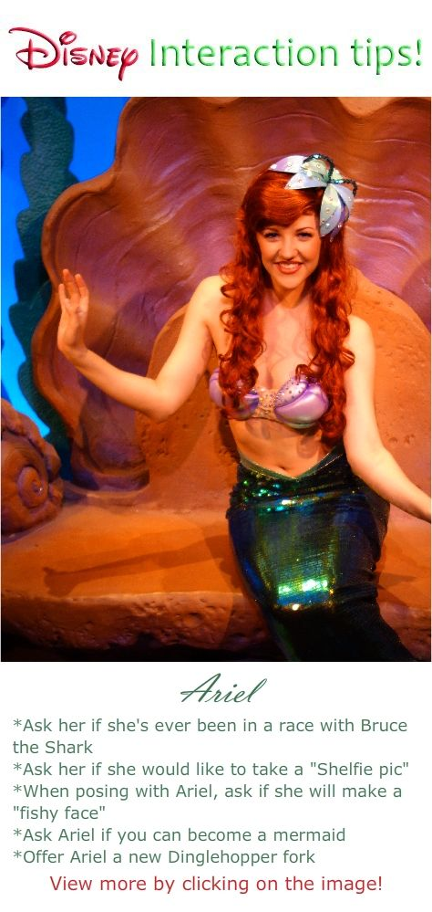 What to say to at a Disney World Character interaction meet and greet