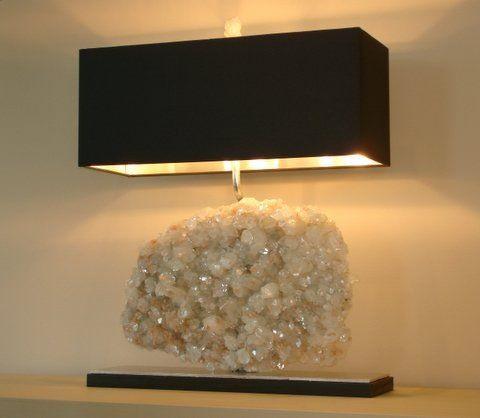 104 best quartz images on pinterest crystals gems and gemstones quartz cluster table lamp mozeypictures Gallery