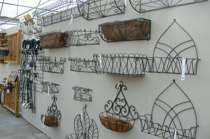 Collection of Wrought Iron Window Boxes