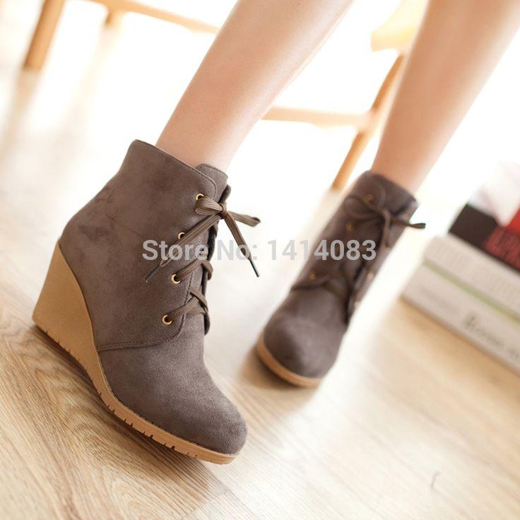 Британский стиль девица темперамент нубука ботильоны круглый носок мотоцикла сапоги на высоких каблуках ботинки женщин бесплатная доставка