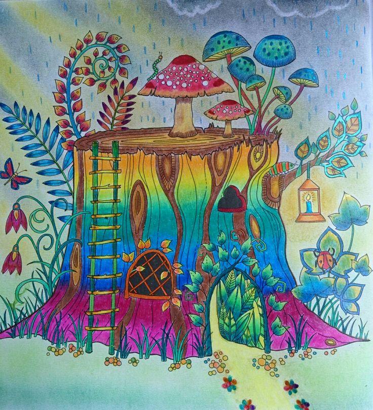 Illustration la Forêt Enchantée de Johanna Basford