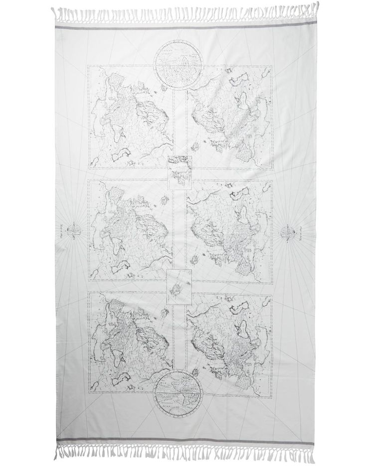 MAP tablecloth offwhite