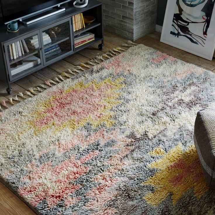 Ashik Wool Rug Multi West Elm Australia