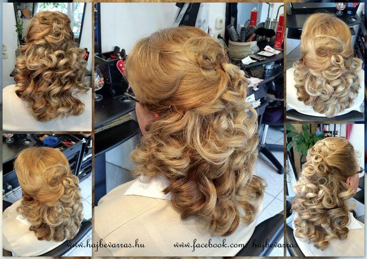 Esküvőre készülődve.. vendégként is legyél csinos :)  www.hajbevarras.hu  #fodrász #alkalmifrizura