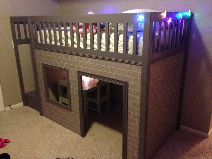 Amazing playhouse loft bed free plans ana for Awesome playhouse plans