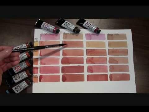 Mixing Skin Tones with DANIEL SMITH Quinacridone Watercolors