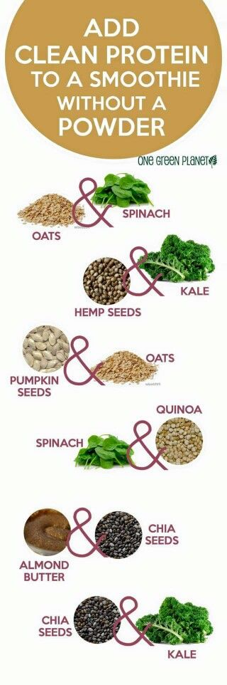 Adding protein to smoothies without using a powder.