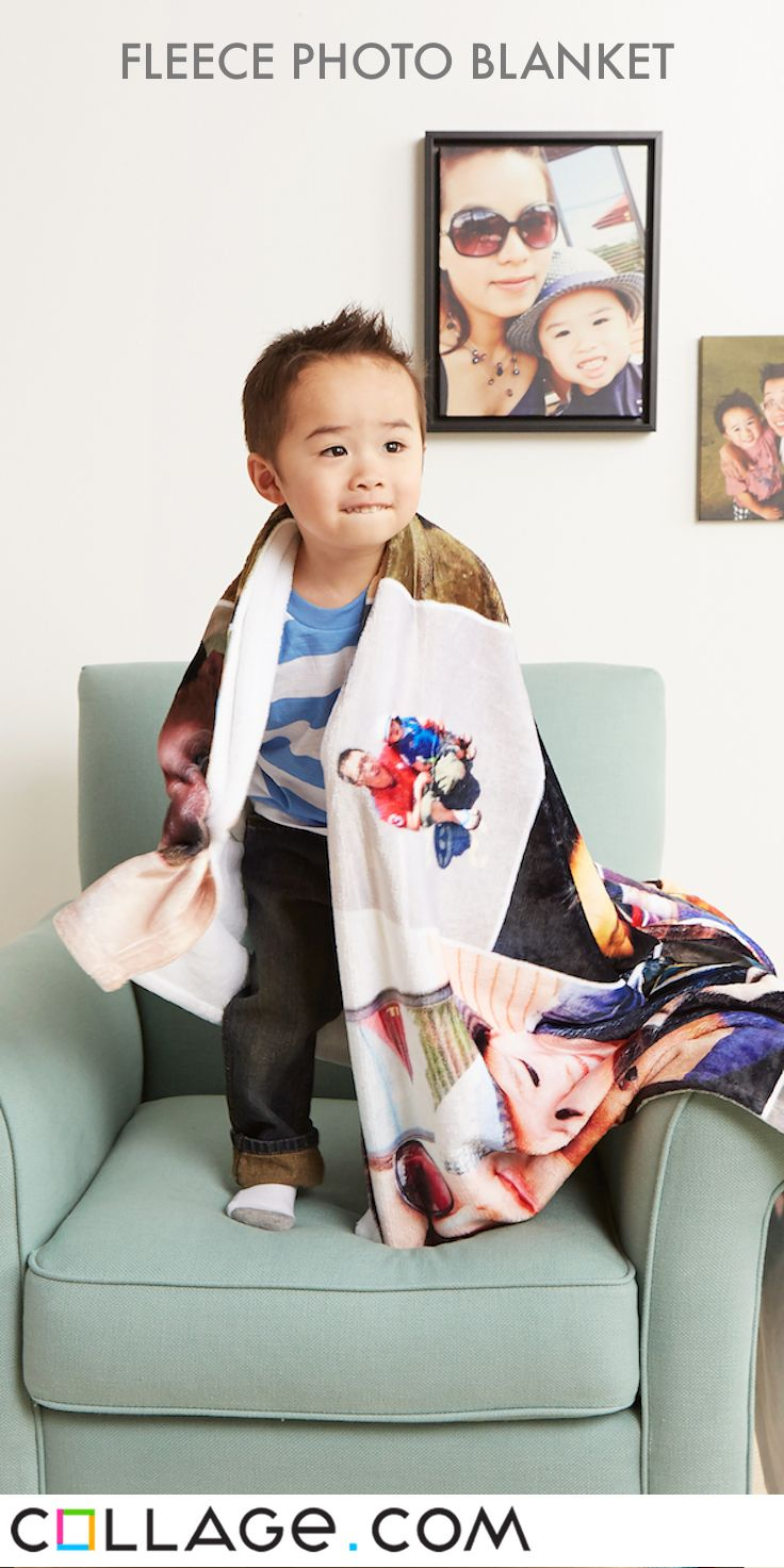 Looking for a unique gift? Design your own fleece photo blanket. It's easy to…